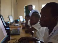 Computer lab in Mayange, Rwanda.