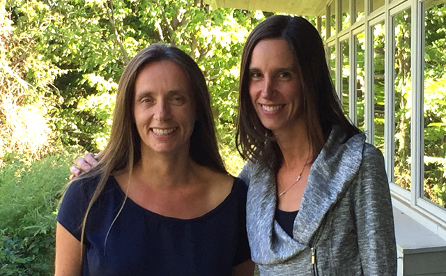 Gisela Winckler (left) and Natalie Boelman (right), winners of Lamont-Doherty Earth Observatory's 2015 Excellence in Mentoring Award.