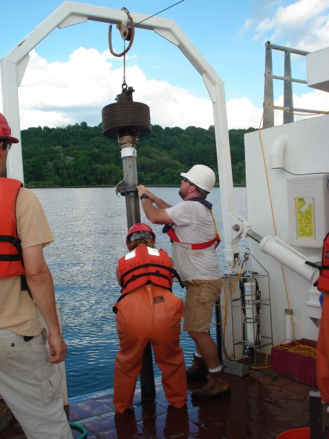 Coring in the Hudson River