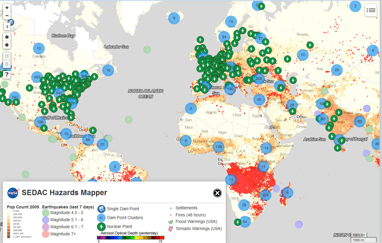 nasa mapping tool lets users pinpoint hazards data