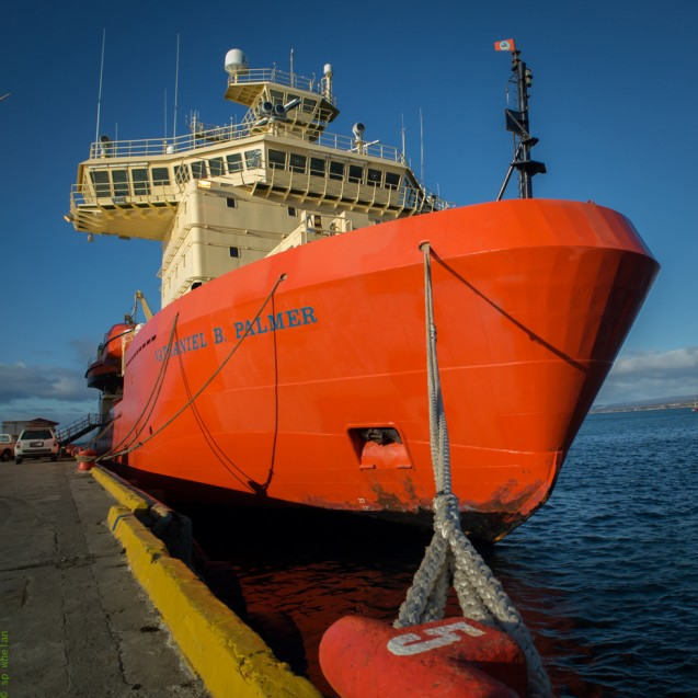 The Nathaniel B. Palmer in Punta-Arenas, Chile. (Photo: S. Whelan)