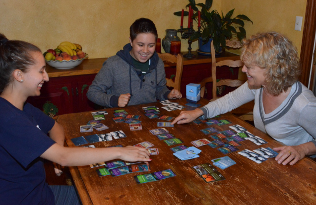 Players try out a round of EcoChains: Arctic Crisis, a strategy game that focuses on the effects of climate change on the ecology of the High Arctic.