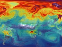 NASA's supercomputer model created this simulation of carbon dioxide in the atmosphere. Photo: NASA/GSFC