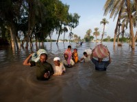 "Flooding in Pakistan. ""It is no secret that the poor in any country, and the poorer countries, are the most adversely affected by the present and future climate."" Photo source: Think Progress"