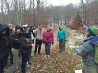 Columbia students from a class on social-ecological systems for sustainable development recently visited the Catskills watershed that included a tour of a model forest.