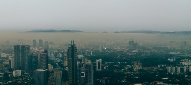 Haze from Indonesian peat fires is causing health problems in cities downwind. (Naz Amir/CC-BY-SA-3.0)