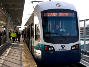 Light rail in Seattle. Photo: Michael B.