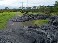 lava flow on a roadway