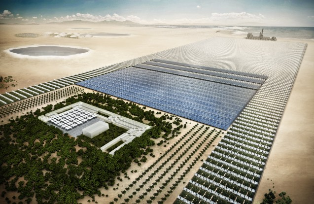 Rendering of the Sahara Forest Project