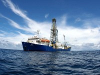 The IODP research vessel Joides Resolution. Courtesy of IODP