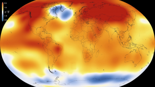 2015, the warmest year. Photo: NASA