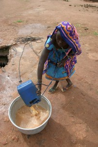 Unsafe drinking water in Boromata, Central African Republic