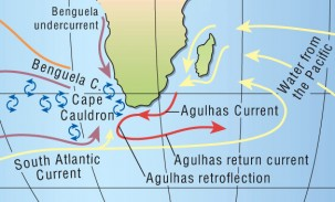 The Agulhas Current. Image courtesy of Arnold Gordon.