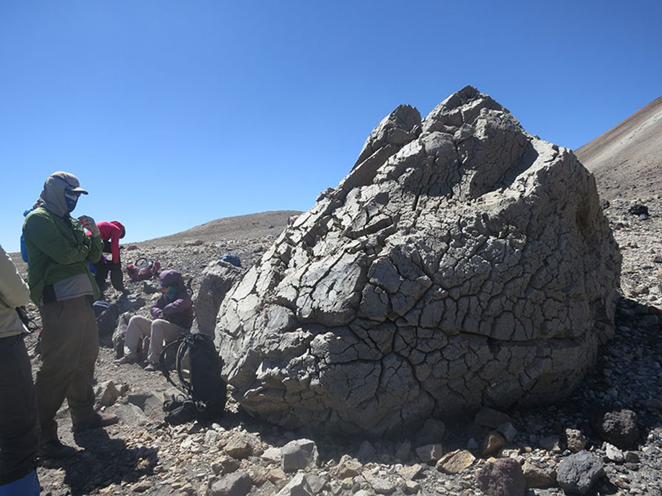 High up on Quizapu's flanks, the pumice bombs are monstrous—a measure of the power behind the volcano.