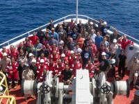 The crew and scientists of Expedition 361. Photo: Tim Fulton/IODP