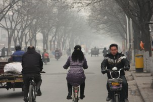Air pollution in Anyang, China. The most harmful air pollution is PM2.5. Photo:V.T.Polywoda