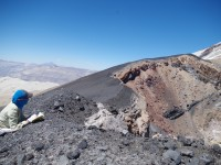 Looking into the volcanic vent of Quizapu