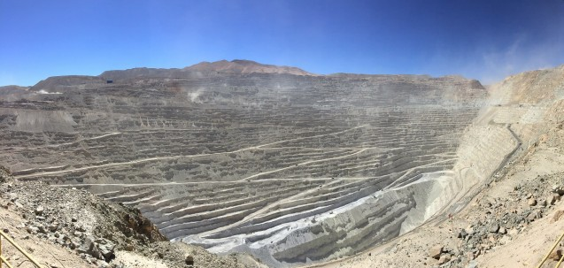 Chuquicamata, located in the north of Chile, is the largest open pit copper mine in the world by excavated volume. Photo: Madison Condon