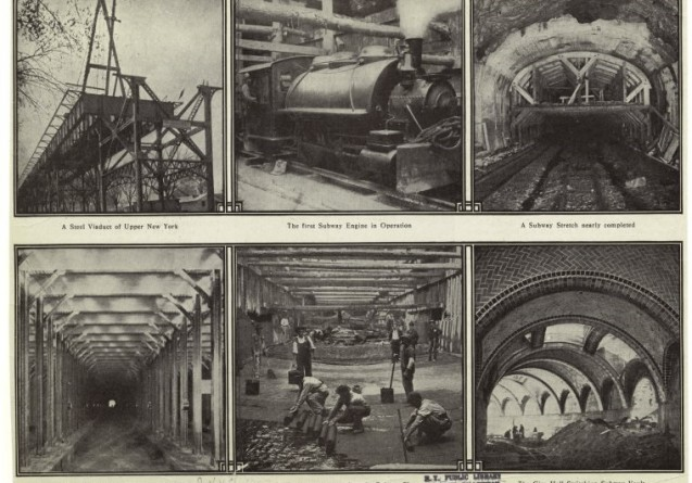 New York subway construction in the beginning of the 20th century. Aging infrastructure hampers the system's efficiency. Photo: NY Public Library Digital Collections
