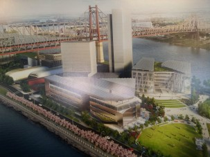 A rendering of the Cornell Tech campus Photo: Jon Mannion