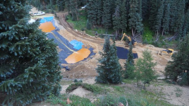 Emergency retaining ponds constructed by the EPA following a spill at the abandoned Gold King Mine in Colorado. A court has ordered the EPA to write new rules requiring mining companies to provide financial assurance they will pay for environmental damage. Photo: EPA