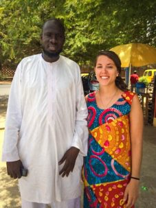 Ousmane Ndiaye, a climate scientist at Senegal's meteorological services agency, and Catherine Pomposi.