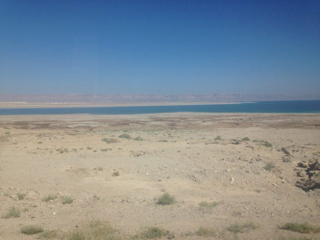 The Dead Sea is receding about 1 meter per year. Photo: Ann Marie Hager