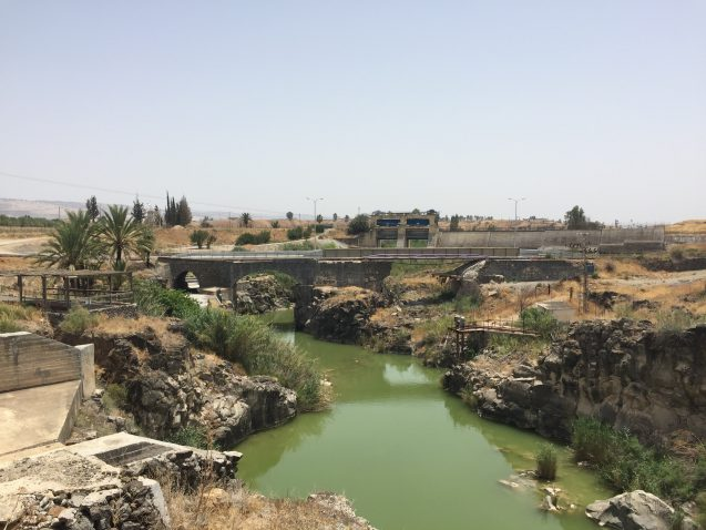 View of the proposed Jordan River Peace Park from Naharayim.