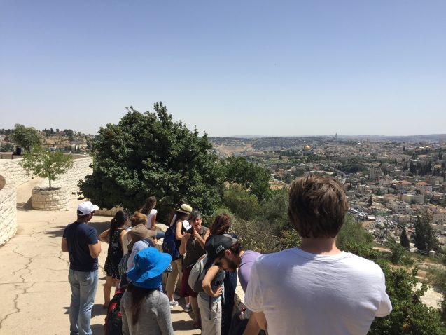 Urban Planners from BIMKOM, and Israeli Human Rights NGO discuss urban planning issues in East Jerusalem with students from Columbia University and Tel Aviv University. Photo: Josh Fisher