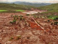 Bento Rodrigues, destroyed by a flood of chemical-laced water and sludge after a tailings dam collapsed in Brazil in November 2015.