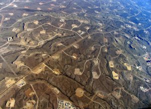 Fracking sites. Photo: Simon Fraser University