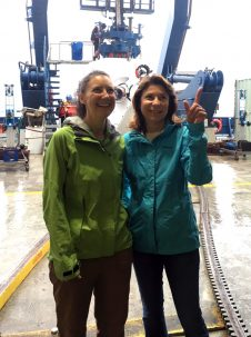Early career scientist Katrina Twing with NSF's Dufour. Courtesy of Dan Fornari