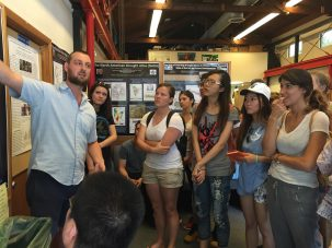 Williams with ESP students at Lamont-Doherty Earth Observatory