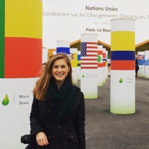 Savannah Miller attending COP21 in Paris