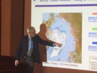 Retired Rear Admiral David Titley described the potential effects of climate on geopolitics.