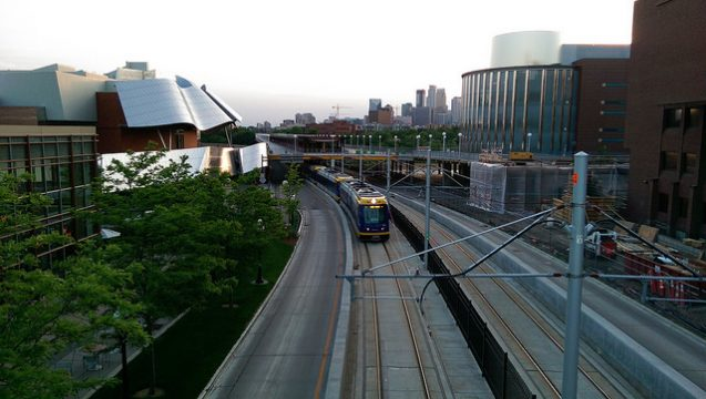 Green Line Train, University of Minnesota's East Bank. Photo: Michael Hicks