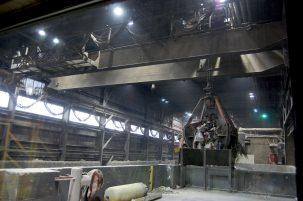 The claw at Covanta's Haverhill, MA plant. Photo: Rebecca Zieber