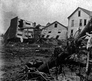 Wreckages from the Johnstown, Pa., flood of 1889. Photo: Johnstown Area Heritage Association