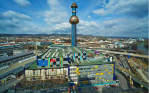 The Spittelau plant in Vienna