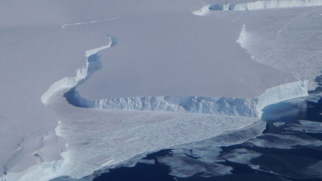 Break in Ice Shelf