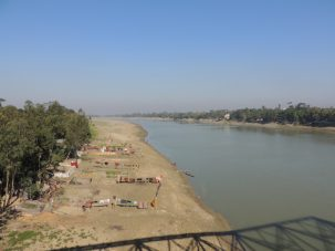 View of the banks of the Kushiara River in NE Bangladesh where we are looking to sample