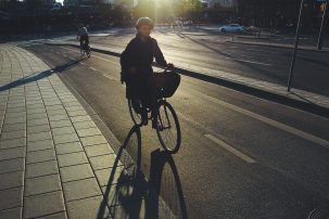 Bike to work. Photo: Babis Giannikakis
