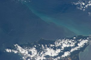 Tapping into waves could affect sediment transport. Photo: NASA