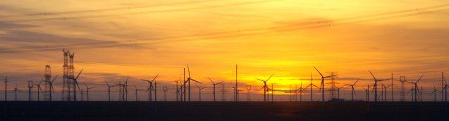 Wind farm in Gansu, China