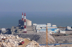Tianwan nuclear power plant, China's largest, when under construction.