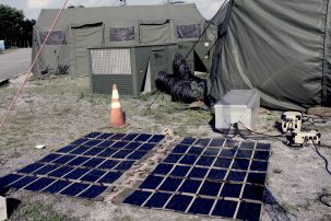The Army is developing microgrids.