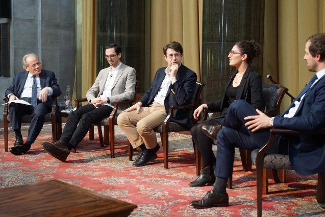 From left: Steve Cohen, James Ossman, Curtis Probst, Celine Ruben-Salama, Zachary Suttile
