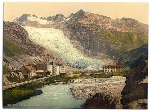 The Rhone Glacier, 1900.