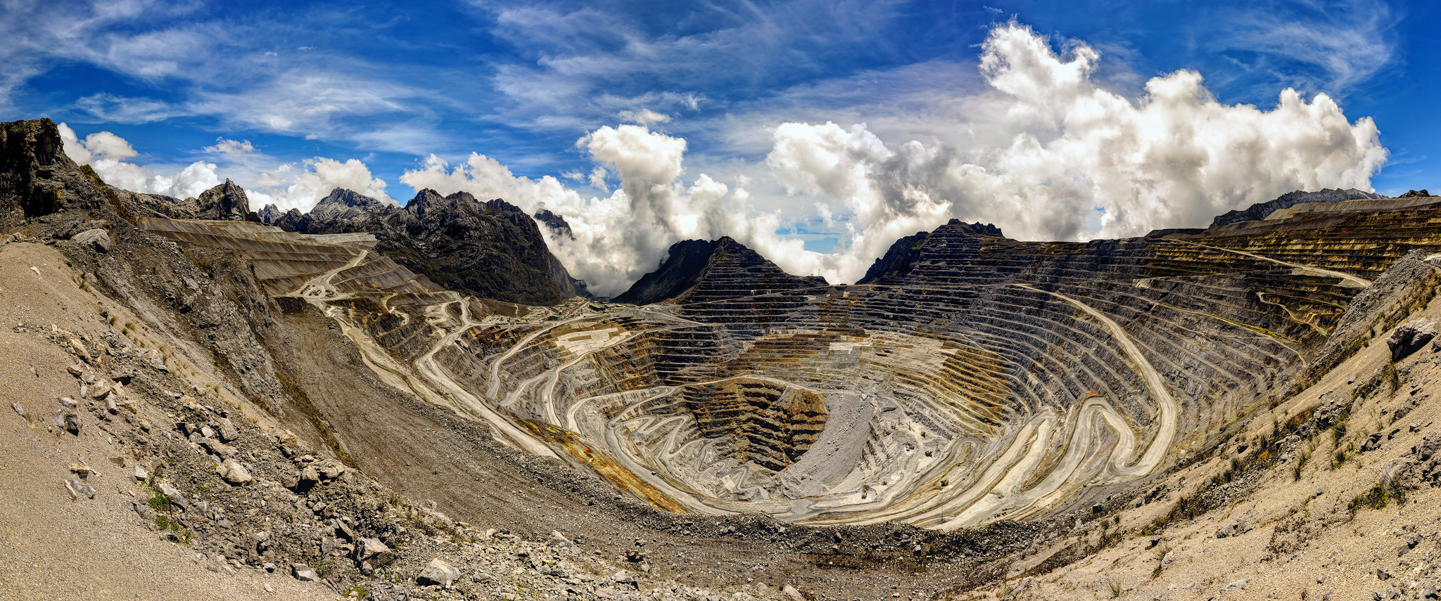 Grasberg mine in Indonesia (Photo credit: Paul Q. Warren)