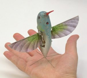 The Nano Hummingbird drone is used for surveillance by DARPA.